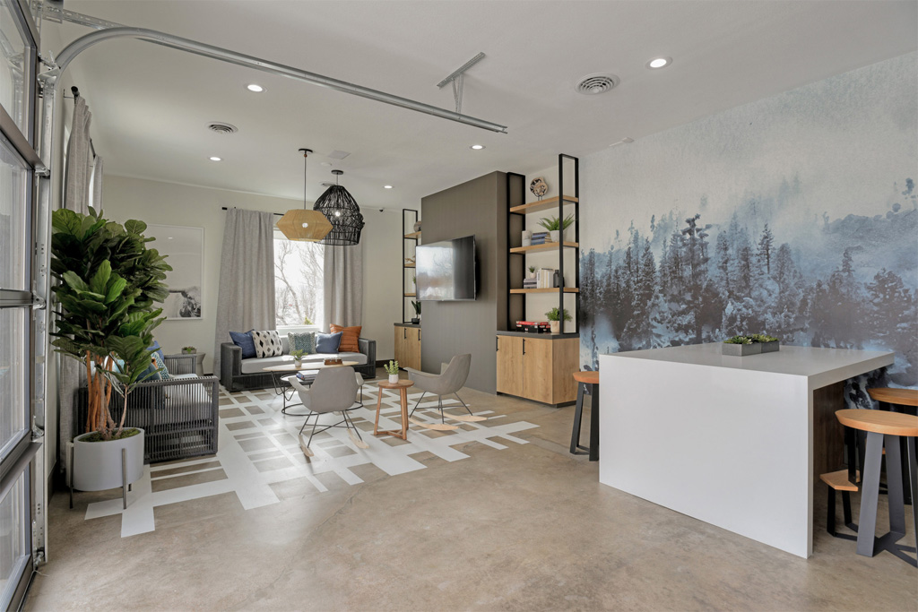 Living room with open space