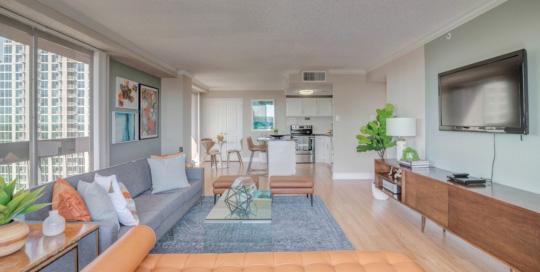 Houston House living room